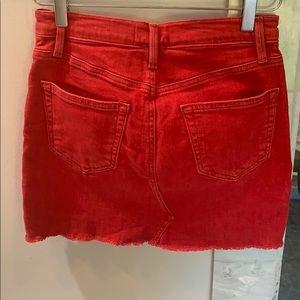 Frame Denim Skirts - FRAME DENIM RED MINI SKIRT